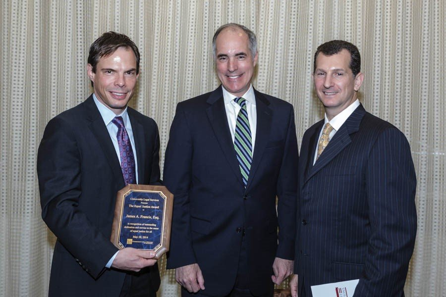 Jim Francis Presented with Equal Justice Award by Community Legal Services of Philadelphia