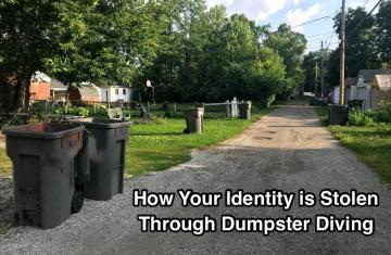 Alley of trash cans, a gold mine for identity theft