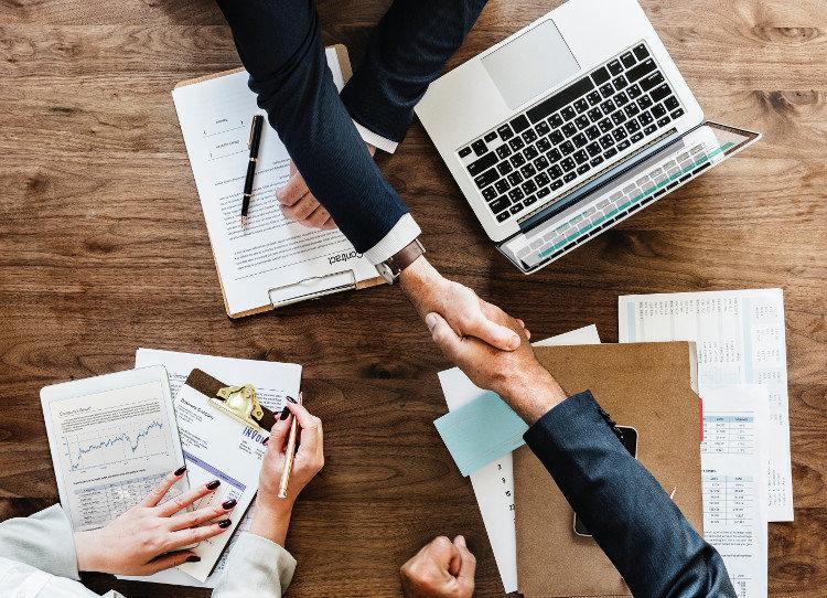 Handshake After Job Interview